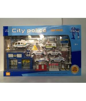 Полицейский набор Die-Cast 1:72 889-50