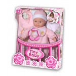 Пупс с мягким телом Tiny Baby в розовой одежде 98016