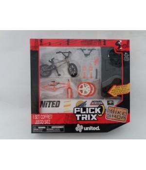 Фингербайк набор Flick Trix серия Bike Shop United золотистый с запасной оранжевой рамой