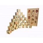 Деревянные кубики с Русским алфавитом. K35ru