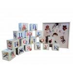 Дервянные кубики с Английским алфавитом. K28eng