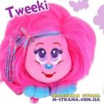 Мягкая игрушка Tweeki Shnooks с расческой и аксессуарами - розовый с голубой челкой