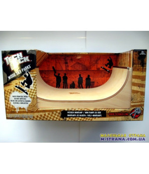 Wooden Miniramp Большая деревянная рампа для фингербординга Tech Deck Wood Sk8 Parks