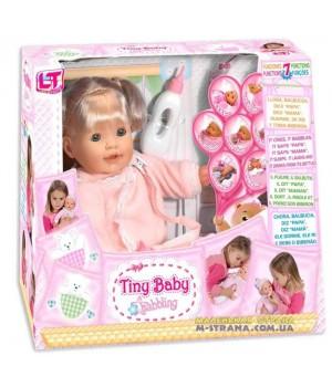 Пупс девочка Tiny Baby babbling