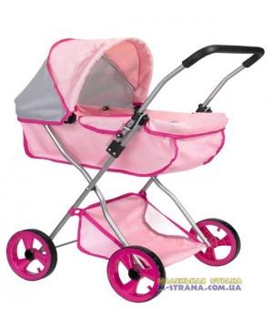 Коляска для кукол четырехколесная зимняя Byboo Pink розовая