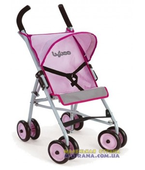 Коляска для кукол четырехколесная летняя Byboo Pink 97020 розовая с поворотными передними колесами