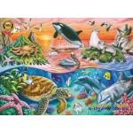 Пазлы 100 элементов Обитатели океана