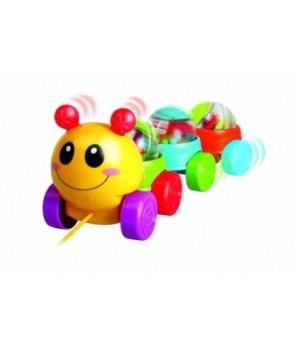Игрушка каталка Веселая гусеница
