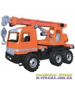 Автокран оранжевый