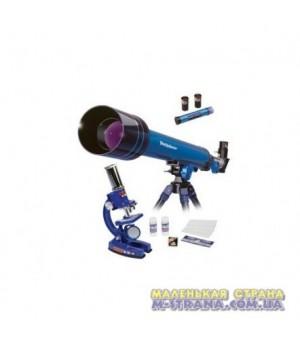 Набор телескоп с микроскопом с принадлежностями