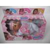 Пупс с мягким телом 37 см My Dolly sucette в бело-розовой одежде Loko Toys - 1