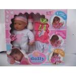Пупс с мягким телом 37 см My Dolly sucette в розовой одежде с запасным комплектом одежды
