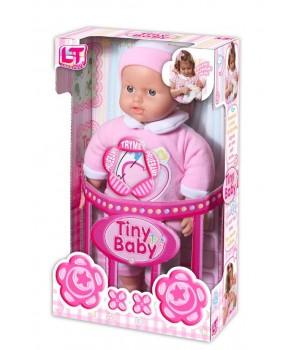 Пупс с мягким телом Tiny Baby в розовой одежде 98013
