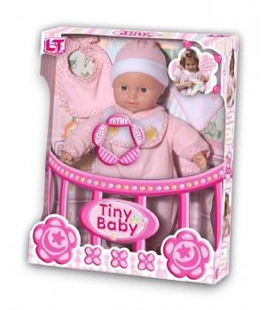 Пупс с мягким телом Tiny Baby в розовой одежде 98019