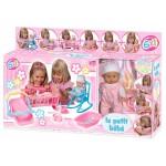 Пупс писающий резиновый Le Petit bebe в розовой одежде с аксессуарами 6 в 1