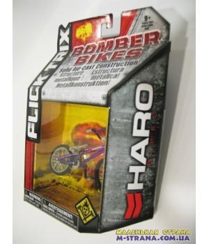 Фингербайк металлический Flick Trix серия Bomber Bikes Haro фиолетовая рама