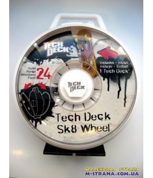 Кейс для хранения фингербордов в виде колеса Tech Deck Sk8 Wheel - белый