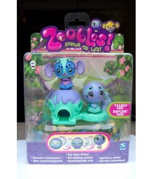 Набор Zoobles Twobles Teesha 31, Domino 32