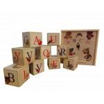 Деревянные кубики с Английским алфавитом. K9eng