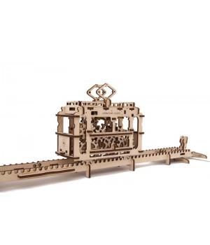 Механические 3Д пазлы модель Трамвай