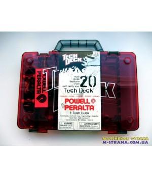 Чемодан для хранения фингербордов Carrying Case Tech Deck - красный серая ручка