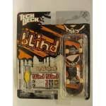 Скейтборд для пальцев рук Blind черный на оранжевом