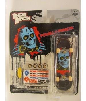 Скейтборд для пальцев рук фингер Tech Deck Powell Peralta синий череп на черном