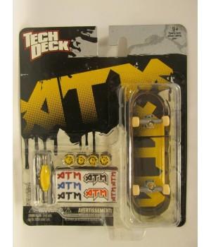 Скейтборд для пальцев рук ATM желтые буквы на черном