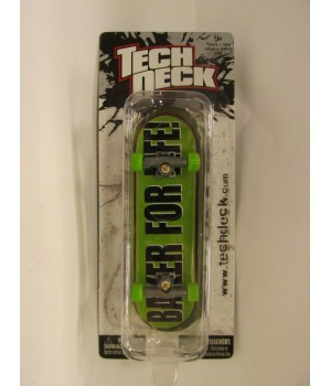 Фингерборд TechDeck Checklane 99821 Baker for life на зеленом