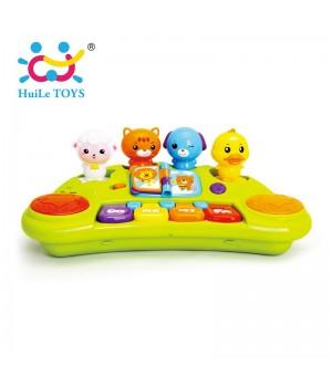 Игрушечное пианино Huile Toys со зверятами (2103A)