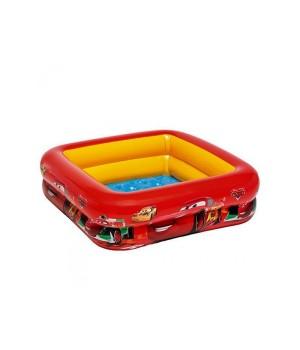 Бассейн Интекс Intex 57101 квадратный, детский , мягкое надувное дно, кор., 23-20,5-6 см