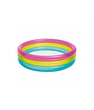 Бассейн Интекс Intex 57104 круглый, 3 цвета, 68 л, 86-25 см