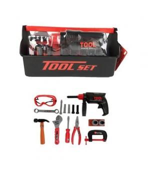 Набор игрушечных инструментов с ящиком для инструментов 18 шт KEYI - 1
