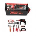Набор игрушечных инструментов с ящиком для инструментов 18 шт