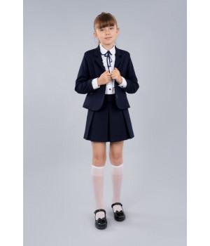 Юбка Sasha 3954 в складку для девочки синяя, комфортная и стильная р152