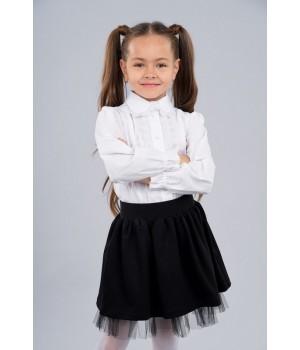 Юбка школьная Sasha из джерси 3958 стильная и удобная р128 черная