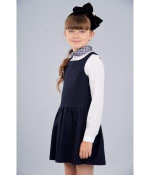Сарафан школьный Sasha 3956-2 для девочки р140 синий