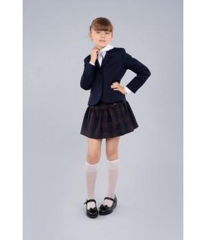 Жакет Sasha приталенный на девочку с длинным рукавом на подкладке 3962 синий р128