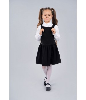 Сарафан школьный Sasha 3956-1 для девочки р128 черный