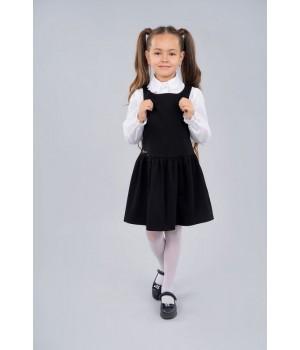 Сарафан школьный Sasha 3956-1 для девочки р140 черный