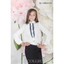 Блуза школьная Zemal DL1-056-01-23 белая с темно синим р36