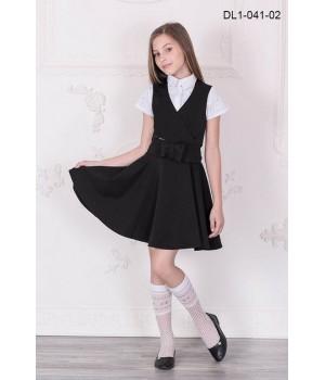 Сарафан школьный Zemal DL1-041-02 черный р32
