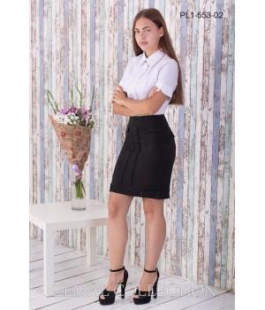 Юбка школьная Zemal PL1-553-02 черная р46