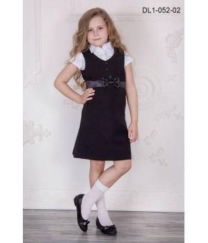 Сарафан школьный Zemal DL1-052-02 черный р32