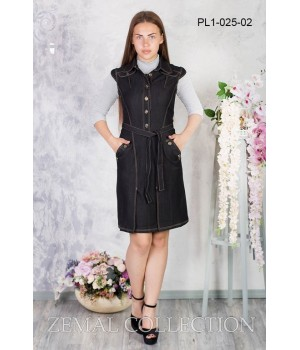 Платье школьное Zemal PL1-025-02 черное р52