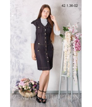 Платье школьное Zemal 42.1.36-02 черное р46 Zemal - 1