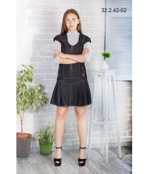 Платье школьное Zemal 32.2.42-02 черное р48