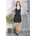 Платье школьное Zemal 12.24-34 темно серое р44