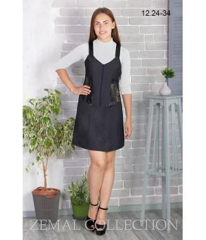 Платье школьное Zemal 12.24-34 темно серое р48