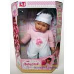 Пупс большой с мягким телом Baby Pink interactive в розовой одежде